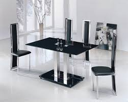 Black Glass Dining Table And 4 Chairs Dining Tables With 4 Chairs Modern Home Design