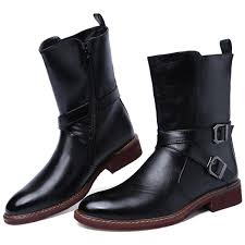 motorcycle riding shoes mens western stylish roman equestrian ankle boots mens quality leather