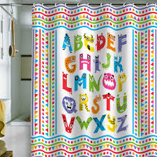 Map Shower Curtain Andi Bird Alphabet Monsters Shower Curtain Kid Bathrooms