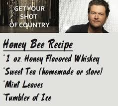 printable lyrics honey bee blake shelton blake shelton gives us an idea w honey bee shot of country drink