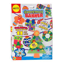 alex toys craft it u0027s a christmas banner decoration kit