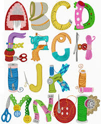 themed letters alphabet sewing