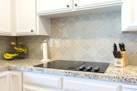 Home Depot Kitchen Tile Backsplash Enorm Beveled Arabesque Tile Backsplash Winning Blue Installing