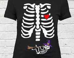 Pregnancy Halloween Costumes Skeleton Twin Pregnant Skeleton Shirt Pregnant Halloween Costume