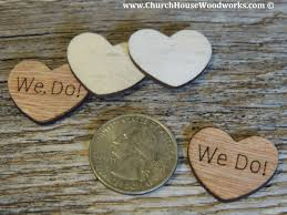 do rustic wood heart confetti for rustic weddings barn weddings