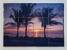 ceramic tile mural miami palms sunrise design kitchen