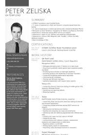Sample Resume For Qa Tester by Team Lead Resume Samples Visualcv Resume Samples Database