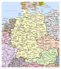 Germany Map Europe by Detailed Political Map Of Germany With Administrative Divisions