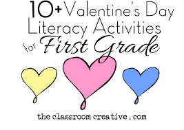 valentine u0027s day literacy activities for first grade