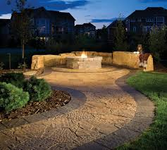 pavers patios fire pits outdoor living roomes brown tan beige