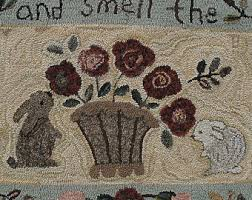 Rug Hooking Supplies Australia Primitive Patterns For Rug Hooking And By Primitivespirit On Etsy