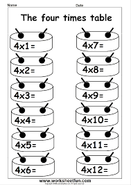 Times Table Worksheets 1 12 3 Times Multiplication Worksheets Photocito