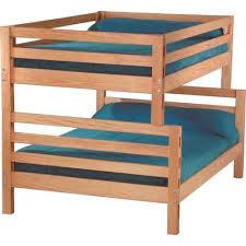Crate Designs Pine Bedroom Casual Double Over Queen Bunk Bed - Double double bunk bed