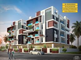 3d apartment 3d apartment exterior day night rendering and elevation design