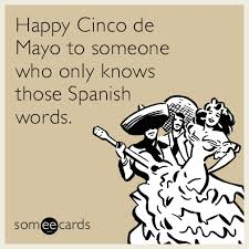 Meme Cinco De Mayo - happy cinco de mayo to someone who only knows those spanish words