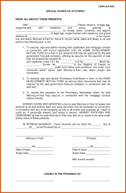 Special Power Of Attorney Form California by Power Of Attorney Sample Sop Example