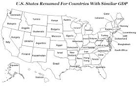 map us states world economies us states renamed for countries with similar