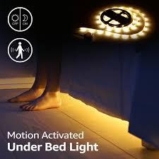 under cabinet accent lighting led bed light kit motion activated 1 10ft flexible bedside strip