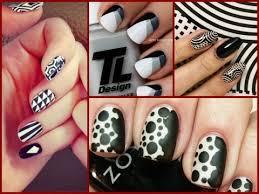 black and white nail art designs 25 easy nail art ideas youtube