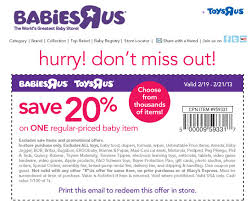 20 off a single item at babies r us u0026 toys r us coupon via the