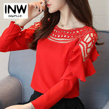 s blouse chiffon blouse and top 2017 hollow out shirts s