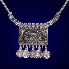 metal necklace designs images Best fashion jewellery manihaar tribal design silver metal jpg
