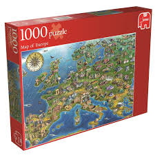 Europe Map Puzzle by Map Of Europe Jigsaw Puzzle 1000 Piece Amazon Co Uk Toys U0026 Games