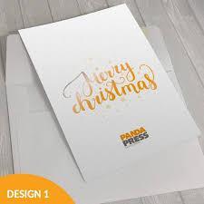 corporate christmas cards including envelopes panda press stone