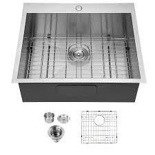 kitchen sink size for 24 inch cabinet casainc 25 inch drop in kitchen sink single bowl sink 18 stainless steel sink