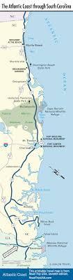 south carolina beaches map the atlantic coast route across south carolina road trip usa