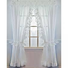 Sheer Ruffled Curtains Sheer Ruffled Priscilla Curtain
