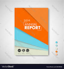 minimalist brochure book flyer design template vector image