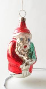 Santa Claus Christmas Tree Decorations vintage father christmas tree decoration glass bauble circa 1960s