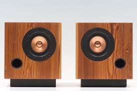 minimalist speakers fern roby cube speakers clad