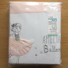Standard Curtain Length South Africa by Next Girls Pink Amelia Ballerina Pencil Pleat Blackout Curtains Ebay
