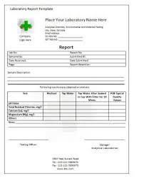 lab report template lab report template writing word excel format