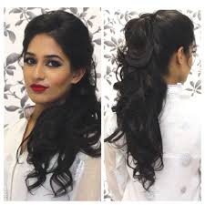 easy hairstyles for wavy medium length hair tutorial indian party hairstyle capelli sposa pinterest