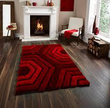 Large Modern Rug by Indulgence Hexagon Modern Soft Red Rug Martin Phillips Carpets