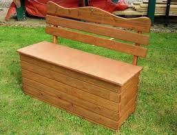 Garden Storage Bench Uk Wooden Garden Storage Box Seat Tony Ward Furniture