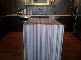 equator marble with mitered edge and waterfall miami circle
