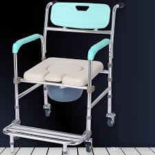 wheelchair commode chair aluminum alloy elderly stroke hemiplegia