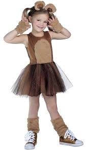 amazon com brown bear costume tutu dress x small toys u0026 games