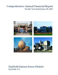 financial report cover page comprehensive annual financial report fssd