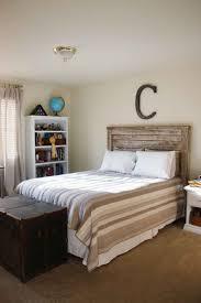 Reclaimed Wood Headboard Bedroom Interior Stunning Rustic Boy Bedroom Design Ideas Using