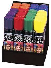 100 halloween hair color spray temporary hair color