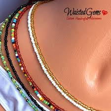 chain belly rings images Color choice waist beads waistbeads waist beads jpg