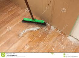 Laminate Floor Brush Cleaning Debris On Floor By Brush Stock Photo Image 39186878