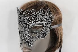 black fabric half face eye costume mask halloween fun party women
