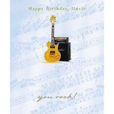 uncle birthday card electric guitar u0026 amplifier size 7 x 5 75 jrhi