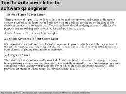 qa cover letter software qa engineer cover letter